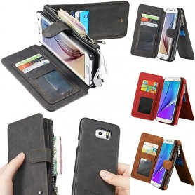 Multi-lommebok 14-korts S6 Edge Plus
