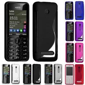 S Line -silikonikotelo Nokia 206: lle