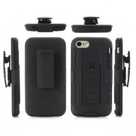 Stötsäkert skal med hölster iPhone 7, 8 mobilskal fkydd
