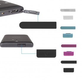 Sony Xperia ZR skydds luckor 2-delars