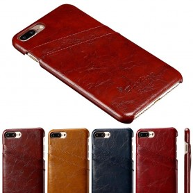 Retro skall med spor iPhone 7 Plus / 8 pluss mobildeksel