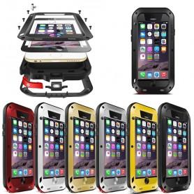 LOVE MORE Powerful Apple iPhone 6, 6S -kuori, suojaava metalli, hengenkestävä