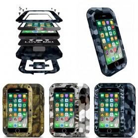 LOVE MEI CAMO Apple iPhone 7, 8 mobilskydd stål aluminium