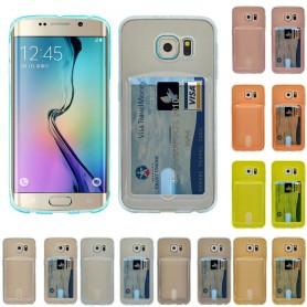 Silikon skal med kortplats Galaxy S6 Edge