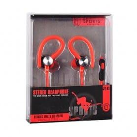 Sport headset med mic - Röd