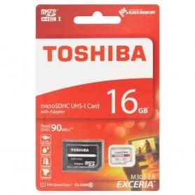 Toshiba 16Gb Micro SD med adapter Klass 10