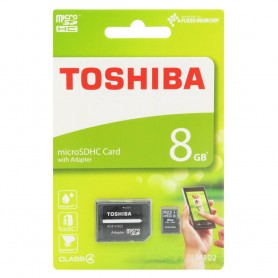 Toshiba 8Gb Micro SDHC med adapter Klass 4