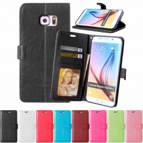 Matkapuhelin lompakko 3-kortti Samsung Galaxy S6 Edge +
