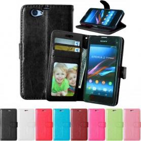 Kannettava lompakko 3-kortti Sony Xperia Z1 Compact