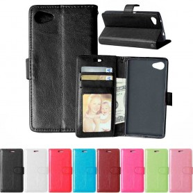 Kannettava lompakko 3-kortti Sony Xperia Z5 Compact