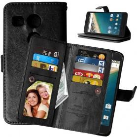Mobiili lompakko Double Flip Flexi 8 -kortti LG Nexus 5X H791