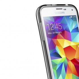 Samsung Galaxy S5 Mini SM-G800F silikoni läpinäkyvä TPU