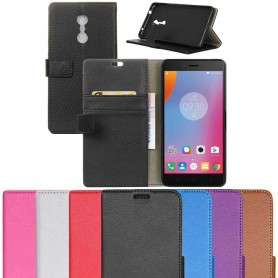 Mobilplånbok 2-kort Lenovo K6 Note mobil skal skydd CaseOnline.se
