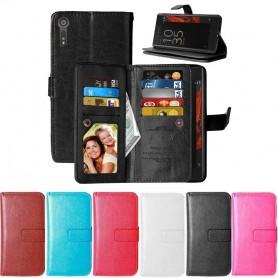 Kaksinkertainen läppä Flexi 9 -kortti Sony Xperia XZ XZ kannettava lompakkokotelo