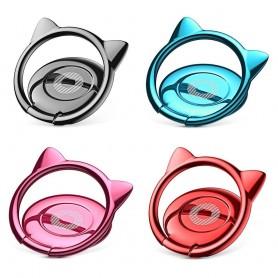 Baseus Cat Ear Mobilhållare, Fingerring, Selfiering