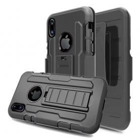 Slagbestandig skall med hylster 3i1 Apple iPhone X mobil skallbelte