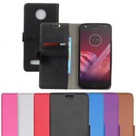 Mobil lommebok 2-kort Motorola Moto Z2 Play mobilveske deksel Caseonline