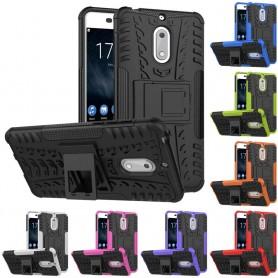 Stöttåligt skal med ställ Nokia 6 mobilskal skydd silikon