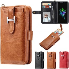 Multi Wallet 3i1 Magnetic 9 Card Apple iPhone X Mobil Cover Mobil lommebok