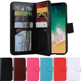 Dobbelt flip Magnet 2i1 avtagbart skall 9card Apple iPhone X mobil deksel