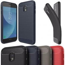 Borstat silikon TPU skal Samsung Galaxy J3 2017 SM-J330 mobilskal skydd