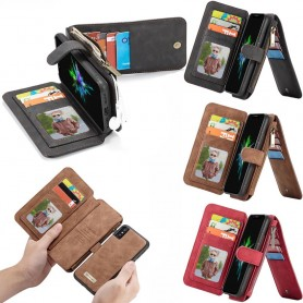 Multi-lommebok 14 kort Apple iPhone X Mobil lommebok magnet 2i1 Flyttbar