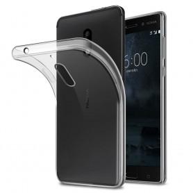 Nokia 8 silikon skal transparent mobilskal tpu