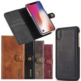 Mobilplånbok Magnetisk DG-Ming Apple iPhone X avtagbart skal mobil skydd