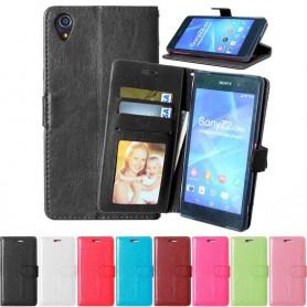 Mobilplånbok 2-kort Sony Xperia Z1 mobilskal skydd fodral