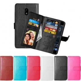Dubbelflip Flexi 9kort Nokia 3 mobilskal fodral mobilplånbok skydd
