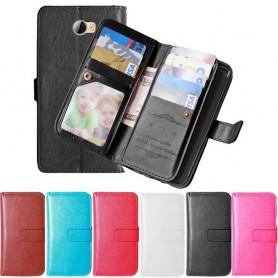 Dubbelflip Flexi mobilplånbok Huawei Y6 2017 MYA-L41 mobilskal fodral