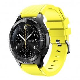 Silikon Sport Armband Samsung Gear S3 Frontier - S3 Classic (gul)
