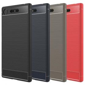 Børstet silikon TPU-skall Sony Xperia XZ1 Compact G8441 mobil deksel
