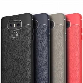 Läder mönstrat TPU skal LG G6 mobilskal skydd caseonline