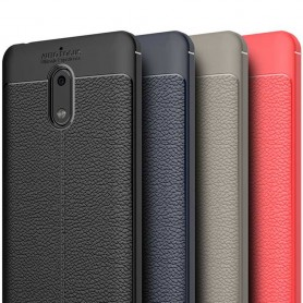 Läder mönstrat TPU skal Nokia 6 mobilskal