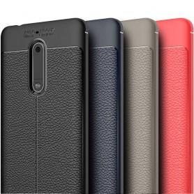 Läder mönstrat TPU skal Nokia 5 mobilskal caseonline