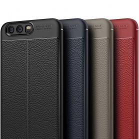 Läder mönstrat TPU skal Huawei P10 Plus VKY-L29 mobilskal caseonline