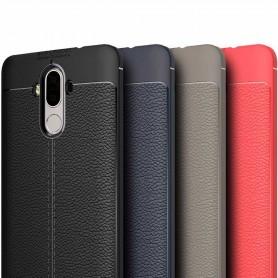 Läder mönstrat TPU skal Huawei Mate 9 mobilskal