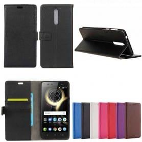 Mobilplånbok 2-kort Lenovo K8 mobilskal fodral skydd