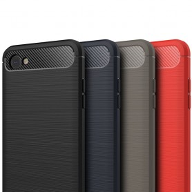 Børstet silikon TPU-skall LG Q6 mobil skallbeskyttelse caseonline