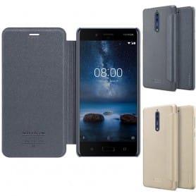 FlipCover Nillkin Sparkle Nokia åtte mobildeksel