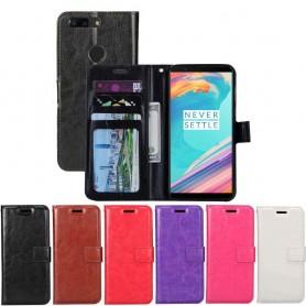 Mobil lommebok 3-kort OnePlus 5T etui vaske planbok