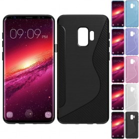 S Line silikon skal Samsung Galaxy S9 SM-G960 tpu mobilskal