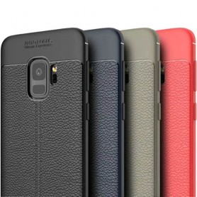 Läder mönstrat TPU skal Samsung Galaxy S9 SM-G960 mobilskal caseonline