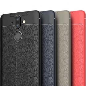 Läder mönstrat TPU skal Nokia 8 Sirocco mobilskal
