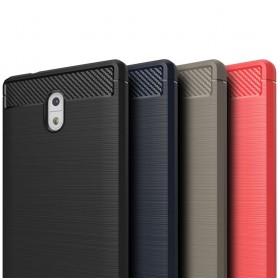 Borstat silikon TPU skal Nokia 3 mobilskal