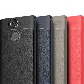 Läder mönstrat TPU skal Sony Xperia XA2 mobilskal