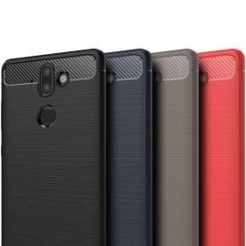 Borstat silikon TPU skal Nokia 8 Sirocco mobilskal skydd caseonline