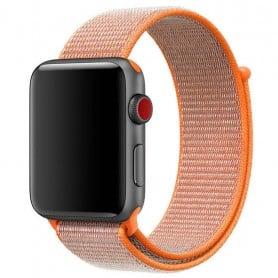 Apple Watch 42mm Nylon Armband med kardborre Spicy Orange klockarmband