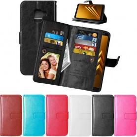 Dubbelflip Flexi Samsung Galaxy A8 2018 mobilskal fodral väska CaseOnline.se